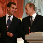 Dmitry Medvedev and Vladmir Putin 150x150 Top 10 Funny Politicians Pics