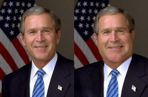 Fat George Bush 3 10 Funny Photos to Warn You of Photoshop Effects
