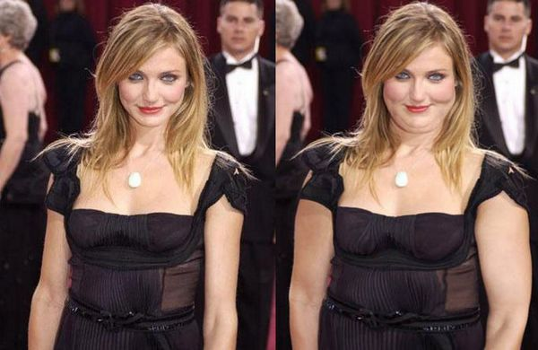 Fat Hollywood Celebs 1 10 Funny Photos to Warn You of Photoshop Effects