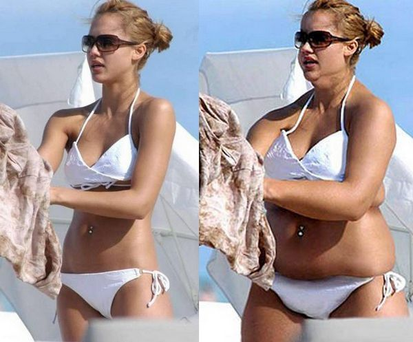 Fat Hollywood Celebs 5 10 Funny Photos to Warn You of Photoshop Effects