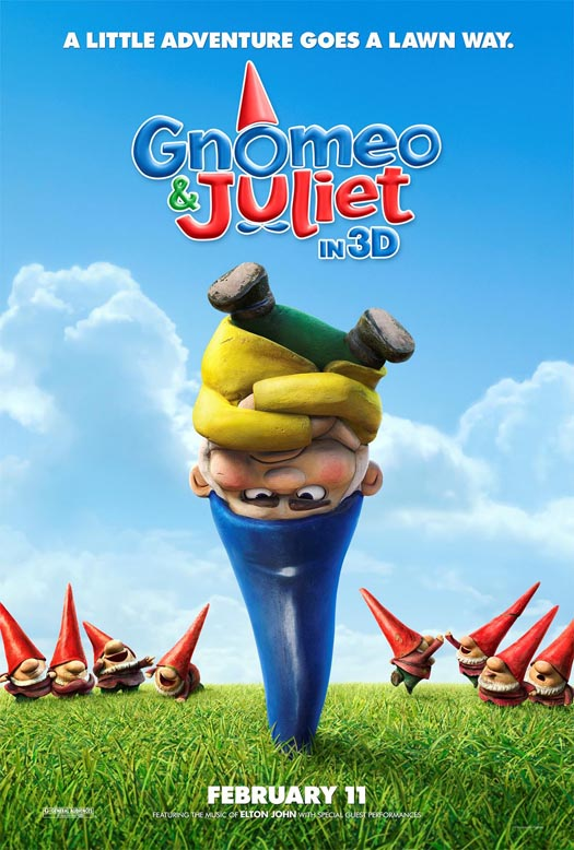 Gnomeo And Juliet Movie Poster1 Top 10 Most Anticipated Animated Movies in 2011
