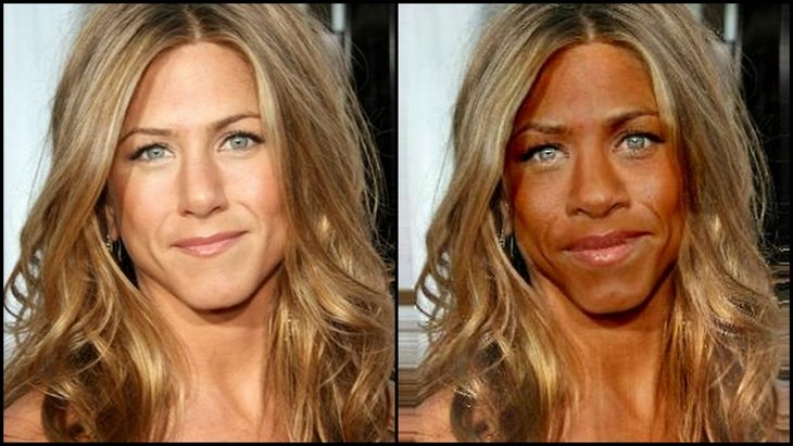 Jenifer Aniston 1 10 Funny Pics   If White Celebrities Were Black