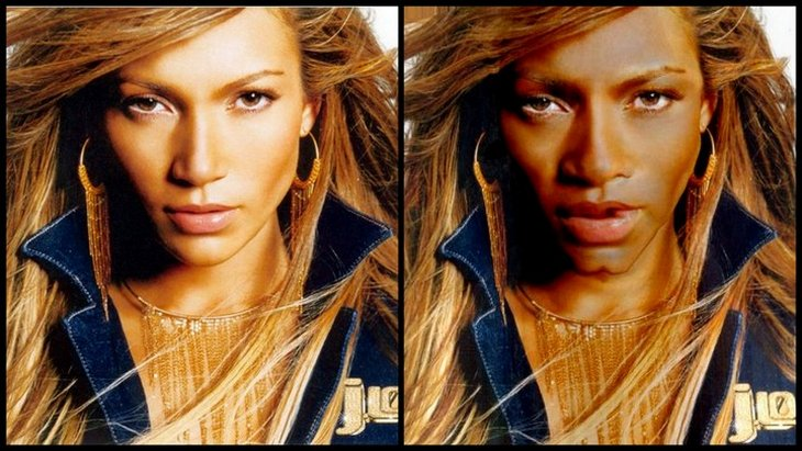 Jennifer Lopez Funny 05 10 Funny Pics   If White Celebrities Were Black