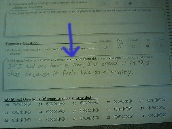 class college Top 10 Most Funny Exam Answers