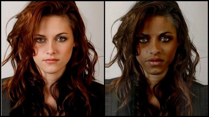 kristen stewart funny black 7 10 Funny Pics   If White Celebrities Were Black
