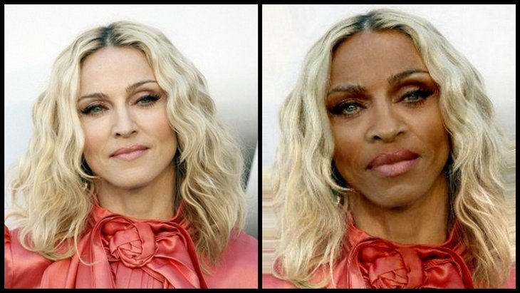 madona funny 2 10 Funny Pics   If White Celebrities Were Black