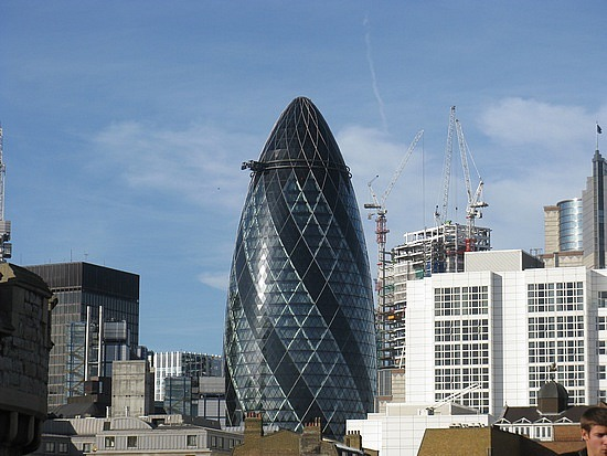 most beautiful building 6th 30 St Mary Axe London United Kingdom Top 10 Most Beautiful Buildings in The World by 2011