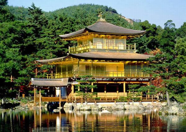 most beautiful building 8th Golden Pavilion Kyoto honshu island Japan Top 10 Most Beautiful Buildings in The World by 2011