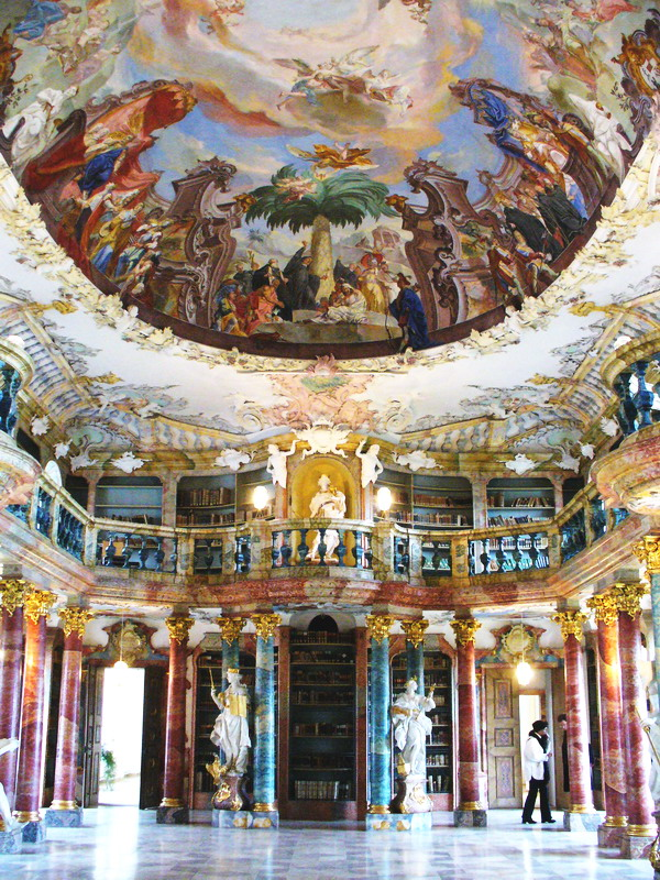 most beautiful building 9th Wiblingen Abbey Library Ulm Baden Wurttemberg Province Germany Top 10 Most Beautiful Buildings in The World by 2011