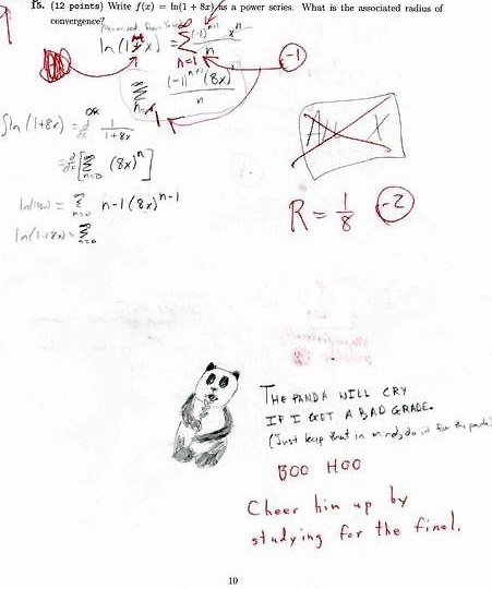 panda college Top 10 Most Funny Exam Answers