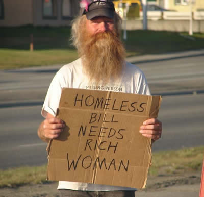 3 Top 10 Hilarious Homeless Signs