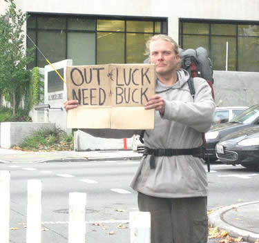 6 Top 10 Hilarious Homeless Signs