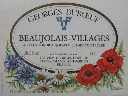 French Beaujolais wine
