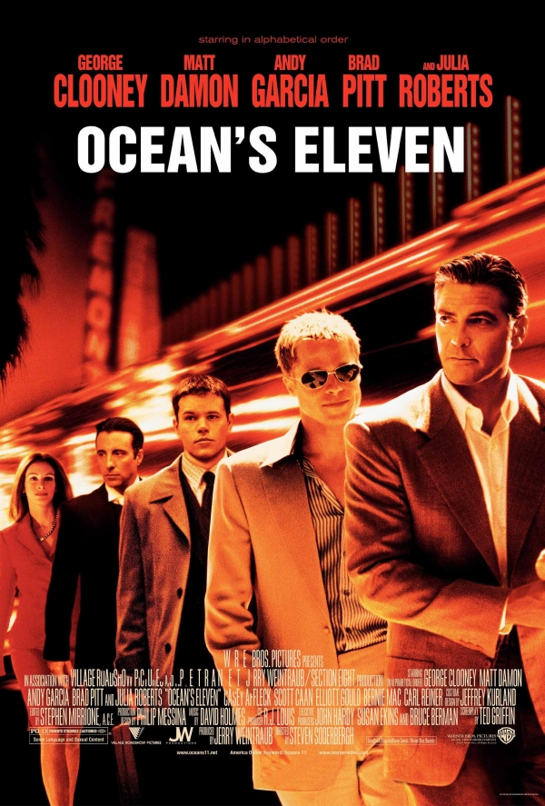 Ocean's Eleven Brad Pitt Top 10 Best Movies by Brad Pitt