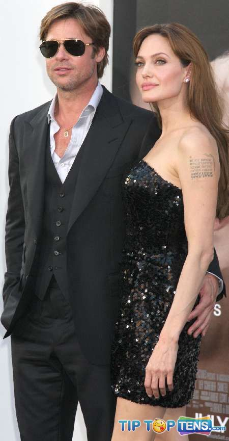 angelina jolie brad pitt Top 10 Hottest Celebrity Couples