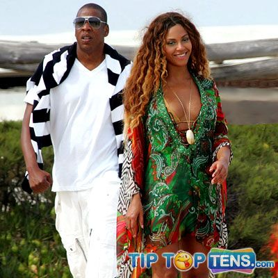 beyonce jay z Top 10 Hottest Celebrity Couples