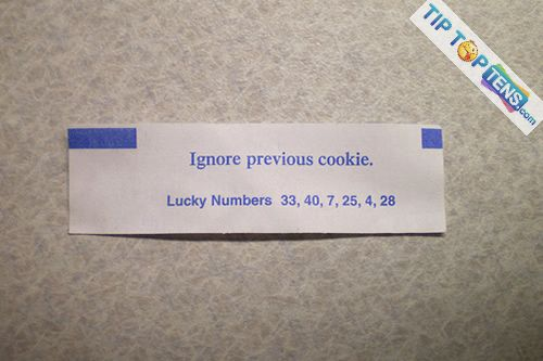funny fortune cookies 9 10 Most Funny Fortune Cookies