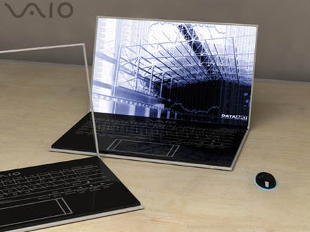 vaio zoom holographic concept 2 Top 10 Futuristic Concept Laptops