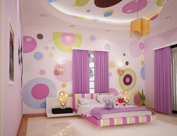Girls Bedroom and Living room1 10 Unique Girl Bedrooms Design Ideas