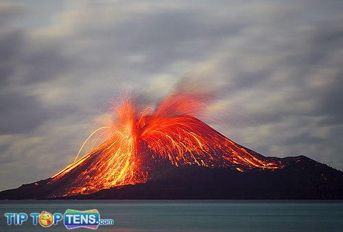 Mount KRAKATAU 10 Most Dangerous & Biggest Volcanoes In The World