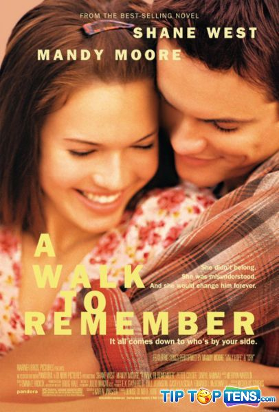 a walk to remember Top 10 Most Romantic Movies Of All Time