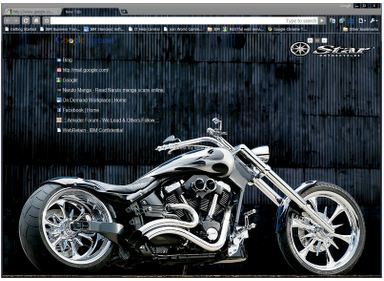 biker theme for chrome 10 Most Stunning Google Chrome Themes   2011