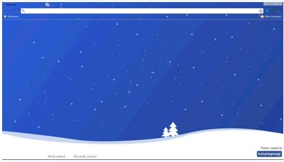 blue christmas theme for google chrome 10 Most Stunning Google Chrome Themes   2011