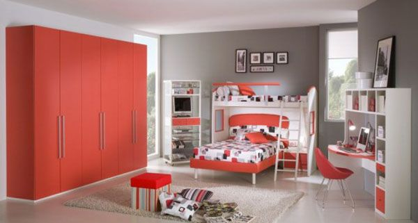 giessegi rooms for boys and girls 27 554x2961 10 Unique Girl Bedrooms Design Ideas