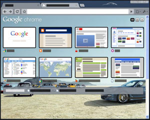 google chrome porsche theme 10 Most Stunning Google Chrome Themes   2011