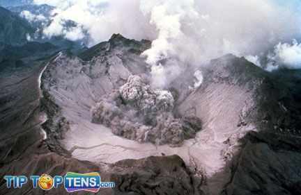 mount pinatubo 10 Most Dangerous & Biggest Volcanoes In The World