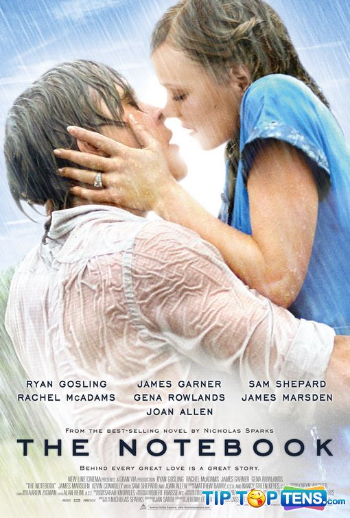 notebook Top 10 Most Romantic Movies Of All Time