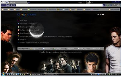 the twilight saga chrome theme 10 Most Stunning Google Chrome Themes   2011