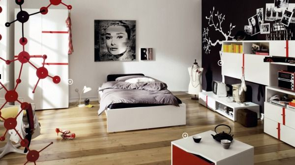 trendy teen bedroom1 10 Unique Girl Bedrooms Design Ideas