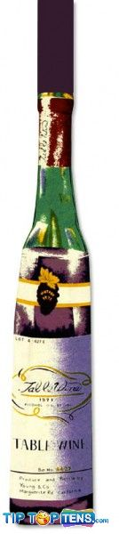 wine bottle shaped tie 10 Most Funny and Strangest Neckties