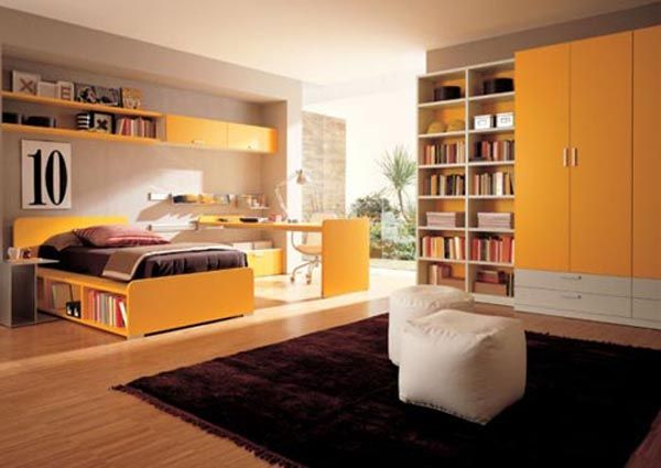 zalf teen room furniture design in yellow1 10 Unique Girl Bedrooms Design Ideas