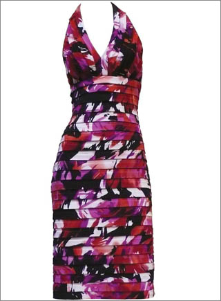 Abstract Floral Print Pleated Halter Dress6 10 Best Summer Dresses Ideas For Women   2011