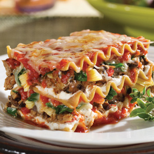 Mushroom Spinach Lasagna 10 Healthy & Delicious Vegetarian Dishes