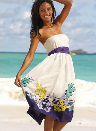 Printed Strapless Dress10 10 Best Summer Dresses Ideas For Women   2011