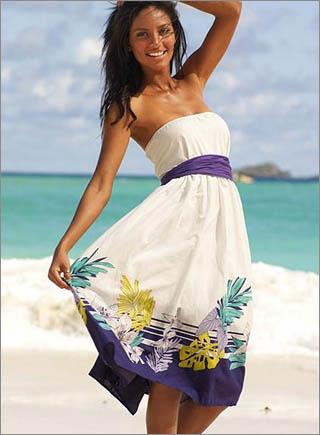 Printed Strapless Dress10 10 Best Summer Dresses Ideas For Women   2011