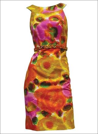 Sleeveless Floral Print Dress with Woven Chain Waist1 10 Best Summer Dresses Ideas For Women   2011