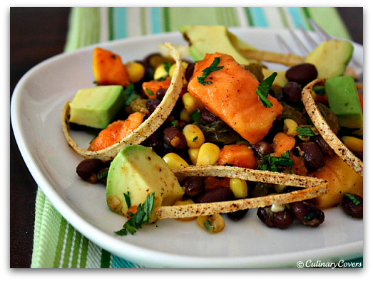Tropical Fusion Salad with Spicy Tortilla Ribbons 10 Healthy & Delicious Vegetarian Dishes
