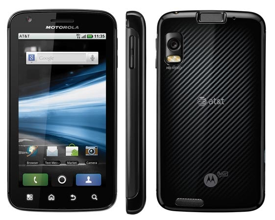 motorola atrix 10 Best Android Cell Phones in 2011