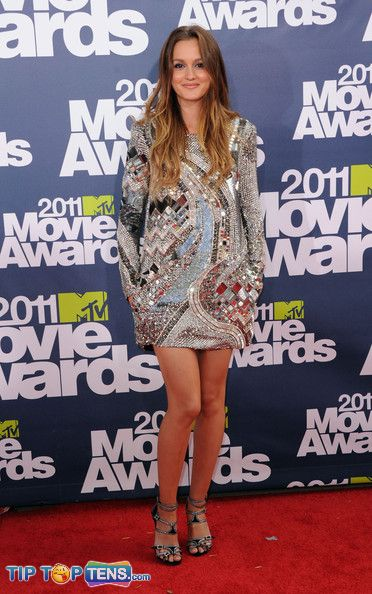 Leighton Meester MTV Awards 2011l Top 10 Favorite Dresses At MTV Movie Awards 2011