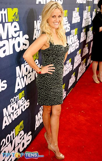 MTV movie awards reese witherspoon Top 10 Favorite Dresses At MTV Movie Awards 2011