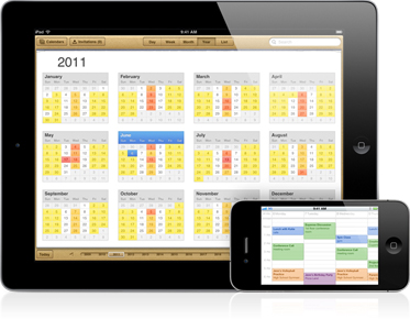 calendar Top 10 New Features In Apple iOS 5