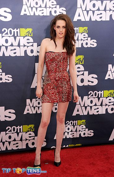 krsten stewart MTV Movie Awards Top 10 Favorite Dresses At MTV Movie Awards 2011