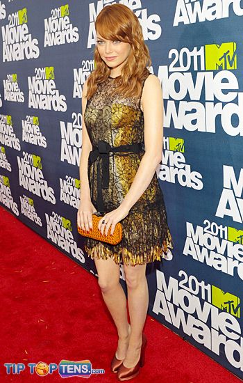 movie awards emma stone Top 10 Favorite Dresses At MTV Movie Awards 2011