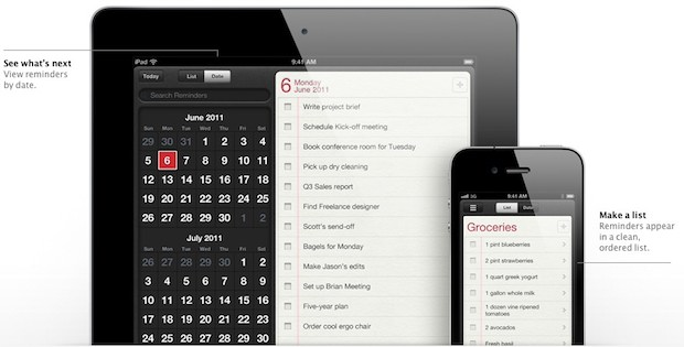 reminders Top 10 New Features In Apple iOS 5