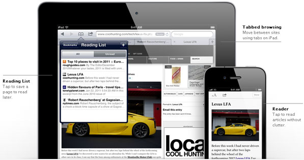 safari Top 10 New Features In Apple iOS 5