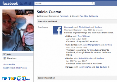 soleio cuervo 10 First People To Join The Facebook